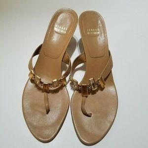 STUART WEITZMAN Tan Thong Sandals